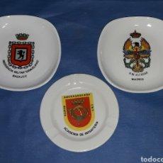 Militaria: LOTE 3 PLATOS-CENICEROS MILITARES. Lote 111053954