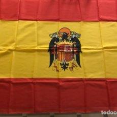 Militaria: BANDERA DE ESPAÑA CON AGUILA IMPERIAL, FRANCO, DIVISION AZUL, FALANGE. Lote 112054850