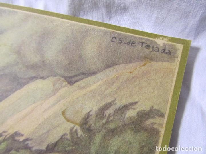 Militaria: 2 láminas Guerra Civil carlista Tierras anchas de Castilla Entre un nublado de cejas Años 50 - Foto 5 - 112658007