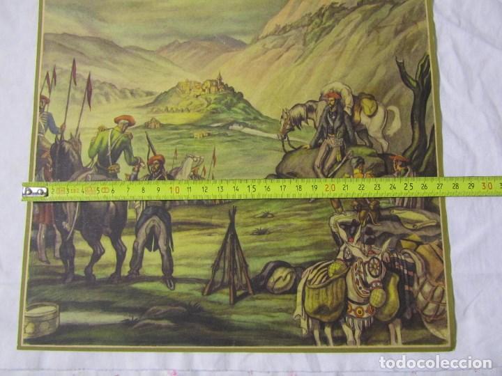 Militaria: 2 láminas Guerra Civil carlista Tierras anchas de Castilla Entre un nublado de cejas Años 50 - Foto 6 - 112658007