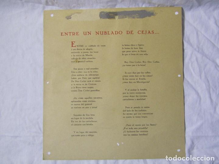 Militaria: 2 láminas Guerra Civil carlista Tierras anchas de Castilla Entre un nublado de cejas Años 50 - Foto 7 - 112658007
