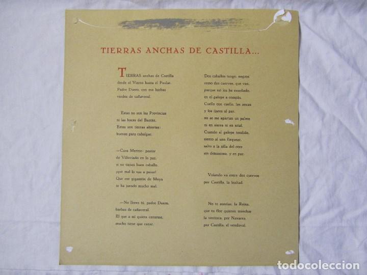 Militaria: 2 láminas Guerra Civil carlista Tierras anchas de Castilla Entre un nublado de cejas Años 50 - Foto 11 - 112658007