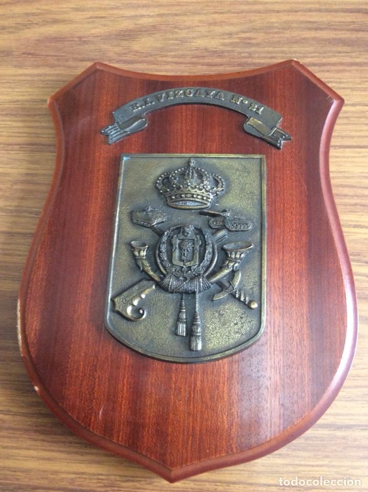 VIZCAYA-REGIMIENTO DE INFANTERIA N°21-METOPA. (Militar - Reproducciones, Réplicas y Objetos Decorativos)
