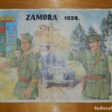 Militaria: CARTEL - ZAMORA 1938 - 42 CM X 29,5 CM... Lote 113126503
