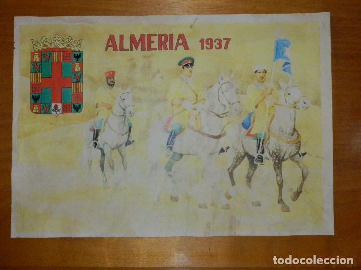 CARTEL - ALMERÍA 1937 - 42 CM X 29,5 CM.. (Militar - Reproducciones, Réplicas y Objetos Decorativos)