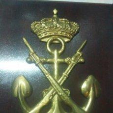 Militaria: METOPA ESCUDO INFANTERIA DE MARINA DEL 85 AL 87,AL CAPITAN DEL TEAR, 28 CM. Lote 114052443