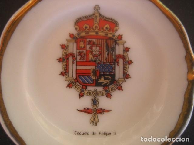 Militaria: PLATITO PORCELANA ESCUDOS MILITARES. ESCUDO DE FELIPE II - Foto 2 - 51505543