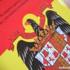 Militaria: DECORATIVA LATA DE ACEITE CON ESCUDO FRANQUISTA DEL AGUILA DE SAN JUAN. FRANCO. FALANGE.. Lote 114850023
