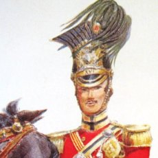 Militaria: 8 LAMINAS GRANDES....EN RELIEVE... DE UNIFORMES MILITARES ESPAÑOLES DE EPOCA. 33,5 X 31 CMS . Lote 115450495