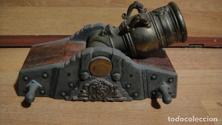 MODELO A ESCALA DE UN MORTERO NAVAL (Militar - Reproducciones, Réplicas y Objetos Decorativos)
