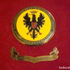 Militaria: METOPA METALICA TERCIO DUQUE DE ALBA 2º DE LA LEGION QUINTA BANDERA 12 CM DE DIAMETRO. Lote 117934315