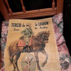 Militaria: ANTIGUO CARTEL ACUARELA DO DE LA LEGIÓN ESPAÑOLA. Lote 117955986