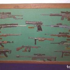 Militaria: COLECCION ARMAS DE PLOMO ENMARCADAS. Lote 118639027