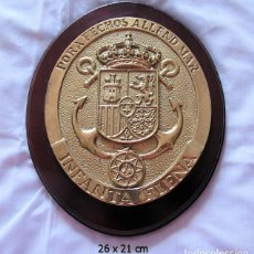 Militaria: METOPA BRONCE CORBETA INFANTA ELENA ARMADA MARINA ESPAÑOLA. Lote 119537235