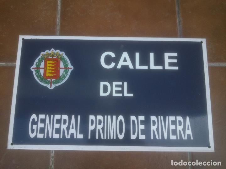 Militaria: Placa o chapa de Calle del general Primo De Rivera Valladolid - Foto 2 - 120151403