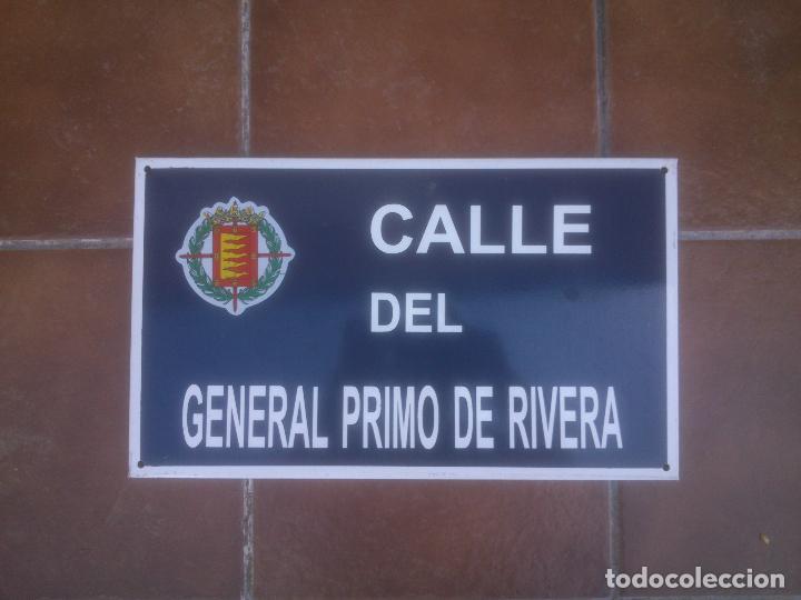 Militaria: Placa o chapa de Calle del general Primo De Rivera Valladolid - Foto 3 - 120151403