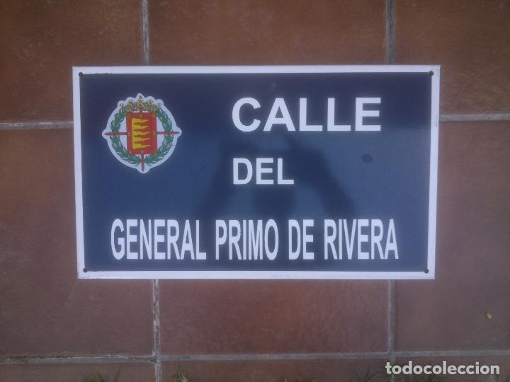 Militaria: Placa o chapa de Calle del general Primo De Rivera Valladolid - Foto 4 - 120151403