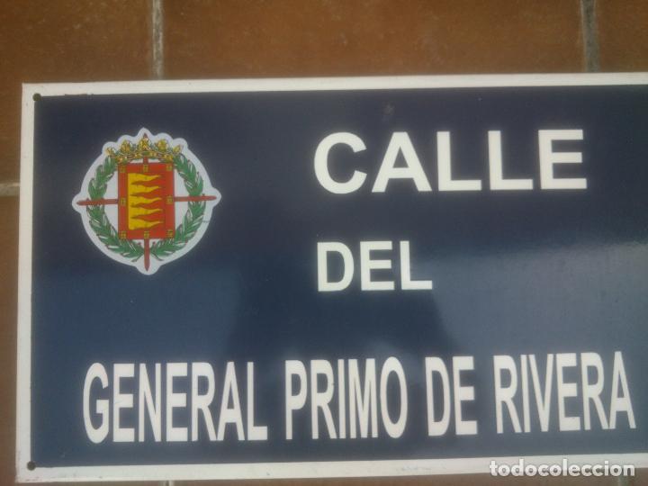 Militaria: Placa o chapa de Calle del general Primo De Rivera Valladolid - Foto 5 - 120151403