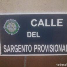 Militaria: PLACA O CHAPA DE CALLE DEL SARGENTO PROVISIONAL VALLADOLID. Lote 120152439