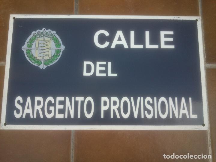 Militaria: Placa o chapa de Calle Del Sargento Provisional Valladolid - Foto 2 - 120152439