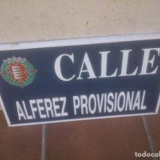 Militaria: PLACA O CHAPA DE CALLE ALFEREZ PROVISIONAL VALLADOLID. Lote 120152807