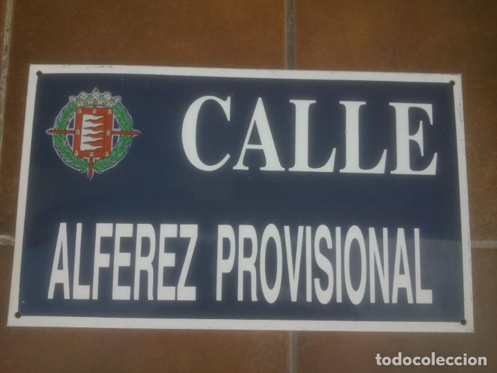 Militaria: Placa o chapa de Calle Alferez Provisional Valladolid - Foto 2 - 120152807