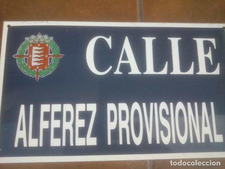 Militaria: Placa o chapa de Calle Alferez Provisional Valladolid - Foto 3 - 120152807