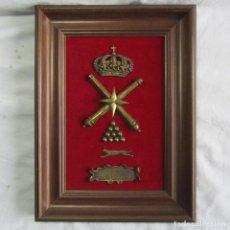 Militaria: CUADRO METOPA GRUPO DE ARTILLERÍA DE LA B.R.I.R. ALMERÍA. Lote 120736703