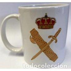 Militaria: ESTUPENDA TAZA DE LA GUARDIA CIVIL CON ESCUDO A DOS CARAS. Lote 121460715