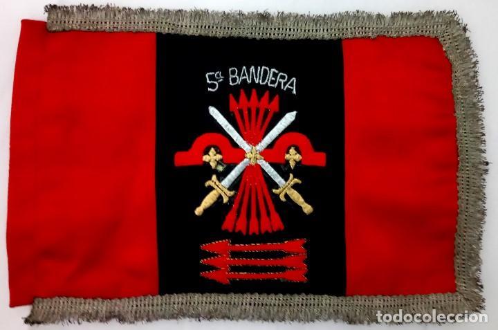 Militaria: BANDERA,CENTURIA BARCELONA,GUARDIA DEL GENERAL FRANCO AÑOS 50,FALANGE CATALUÑA,GUERRA CIVIL ESPAÑOLA - Foto 3 - 189365358