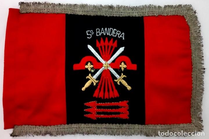 BANDERA,CENTURIA BARCELONA,GUARDIA DEL GENERAL FRANCO AÑOS 50,FALANGE CATALUÑA,GUERRA CIVIL ESPAÑOLA (Militar - Reproducciones, Réplicas y Objetos Decorativos)