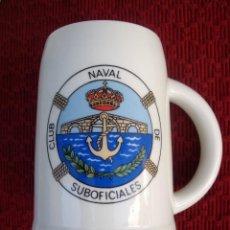 Militaria: JARRA CLUB NAVAL DE SUBOFICIALES DE SAN FERNANDO , ARMADA ESPAÑOLA.. Lote 123060743