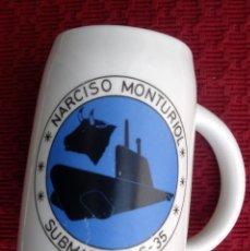 Militaria: JARRA SUBMARINO NARCISO MONTURIOL ARMADA ESPAÑOLA.. Lote 123129367