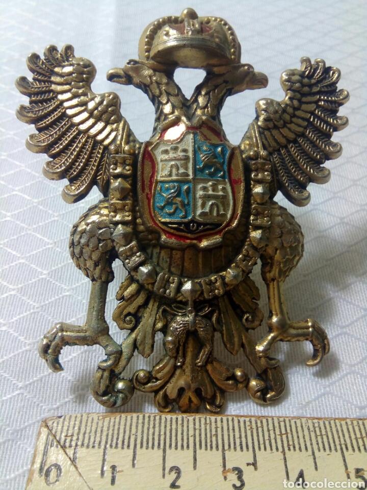Militaria: Águila bicefala. Toledo. Escudo de bronce dorado. - Foto 4 - 125156075