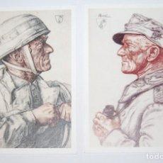 Militaria: POSTALES DEL GENERALMAJOR EUGEN MEINDL DE LA DIVISION DE PARACAIDISTAS. Lote 128732007