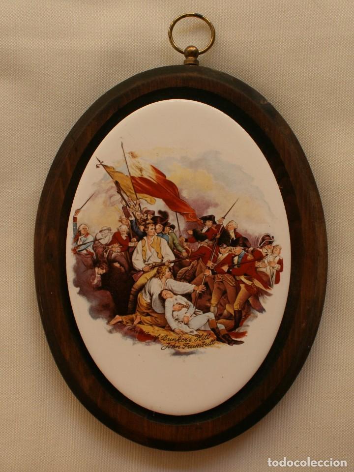 antigua placa inglesa ceramica marco madera esc - Comprar ...