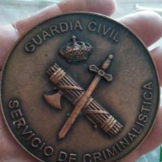 Militaria: MONEDA MEDALLÓN BRONCE GUARDIA CIVIL. Lote 130255250