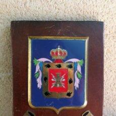 Militaria: METOPA ESCUDO METÁLICO ESMALTADO REGIMIENTO MIXTO DE INGENIEROS DE CANARIAS EJERCITO ESPAÑOL. Lote 131709522