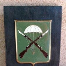 Militaria: METOPA METÁLICA ESMALTADA BATALLÓN INSTRUCCIÓN PARACAIDISTA EJÉRCITO ESPAÑOL . Lote 131712970