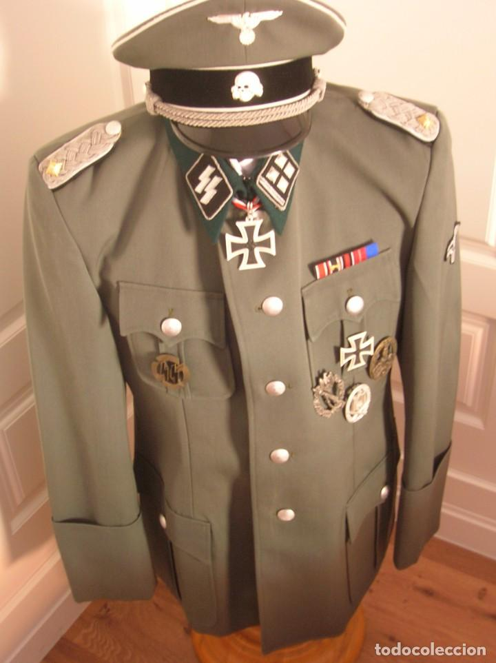 Militaria: UNIFORME OFICIAL SS. CASA G.ASSMANN. GORRA, GUERRERA. EXCEPCIONAL RÉPLICA. - Foto 3 - 132195938