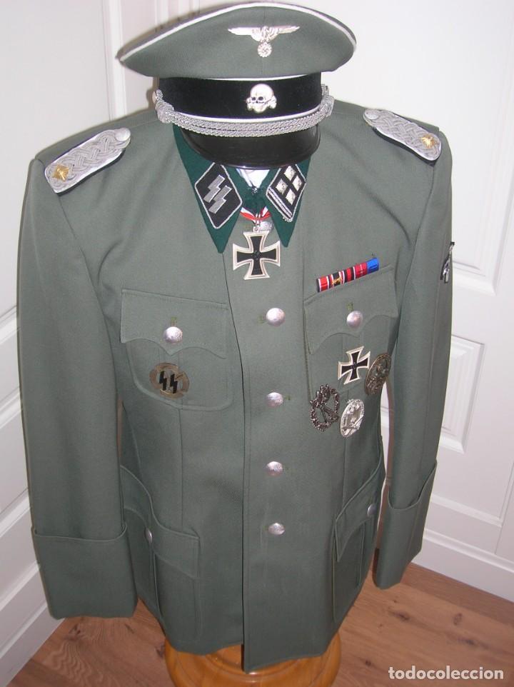 Militaria: UNIFORME OFICIAL SS. CASA G.ASSMANN. GORRA, GUERRERA. EXCEPCIONAL RÉPLICA. - Foto 5 - 132195938