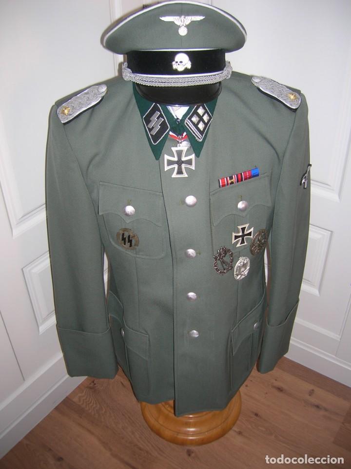 Militaria: UNIFORME OFICIAL SS. CASA G.ASSMANN. GORRA, GUERRERA. EXCEPCIONAL RÉPLICA. - Foto 10 - 132195938
