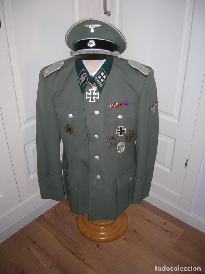 Militaria: UNIFORME OFICIAL SS. CASA G.ASSMANN. GORRA, GUERRERA. EXCEPCIONAL RÉPLICA. - Foto 15 - 132195938