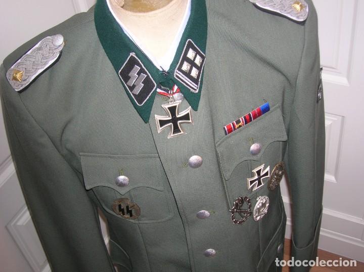 Militaria: UNIFORME OFICIAL SS. CASA G.ASSMANN. GORRA, GUERRERA. EXCEPCIONAL RÉPLICA. - Foto 17 - 132195938