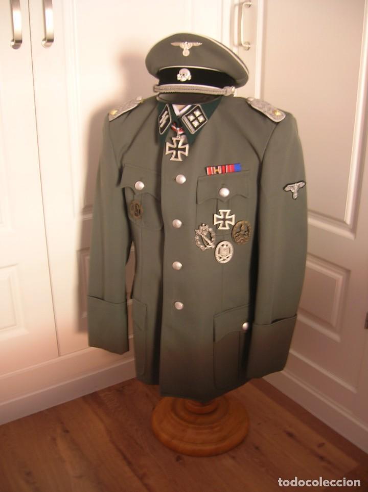 Militaria: UNIFORME OFICIAL SS. CASA G.ASSMANN. GORRA, GUERRERA. EXCEPCIONAL RÉPLICA. - Foto 18 - 132195938