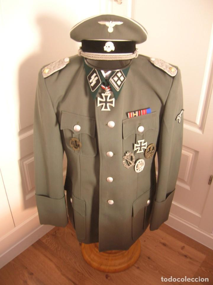 Militaria: UNIFORME OFICIAL SS. CASA G.ASSMANN. GORRA, GUERRERA. EXCEPCIONAL RÉPLICA. - Foto 21 - 132195938