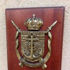 Militaria: METOPA BRONCE MACIZO INFANTERÍA DE MARINA TERCIO DE LEVANTE CARTAGENA . Lote 132628874