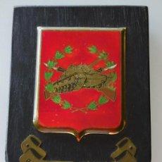 Militaria: METOPA MILITAR. RIAC ALCÁZAR DE TOLEDO 61. 20 X 14 CM. REGIMIENTO INFANTERÍA ACORAZADA. 220 GR. Lote 133255758
