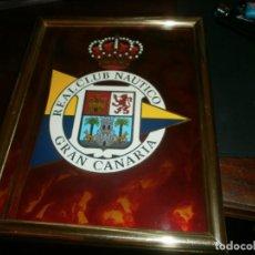 Militaria: METOPA MILITAR ESMALTADA REAL CLUB NAÚTICO GRAN CANARIA ENMARCADO 24 X 19 CM. . Lote 133593426