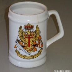 Militaria: JARRA DE CERÁMICA DE LA RESIDENCIA MILITAR DE MONTAÑA NAVACERRADA MADRID. 13 CM. 400GR. Lote 135316386